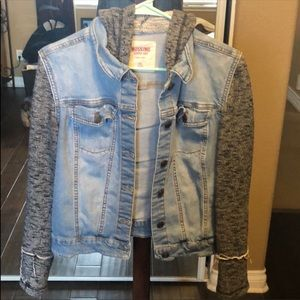 Adorable jean jacket with hood